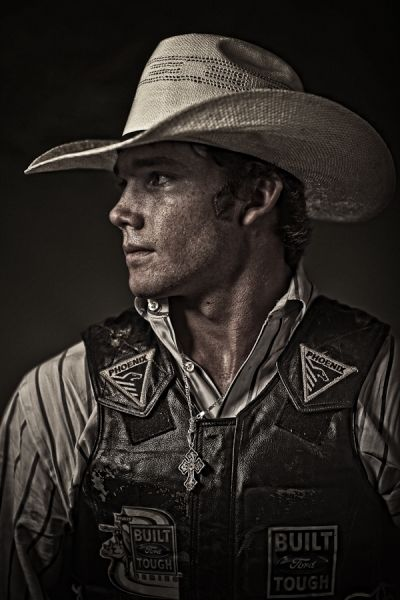 Bull Rider photographed by Andy Mahr- ONE EYELAND--maybe harve stewart???