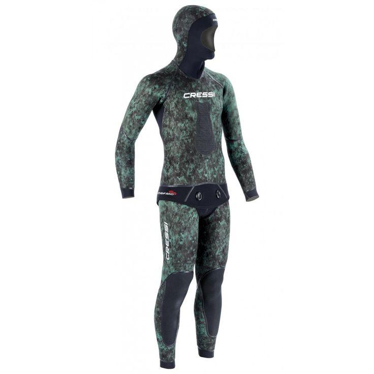 Traje de camuflaje Cressi Scorfano Ultraspan, traje de alta gama que incorpora una gran cantidad de soluciones técnicas algunas de ellas exclusivas.
