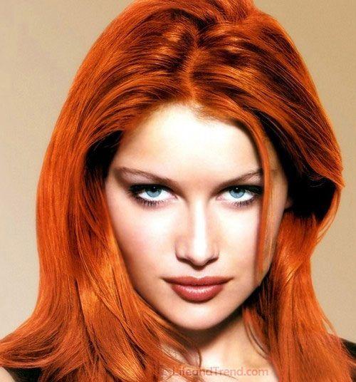 Women New Cool Red Hair Dye Coloring Look 2013