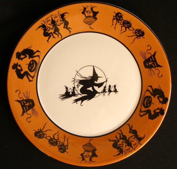 halloween plates bethany lowe - Halloween Plates Ceramic