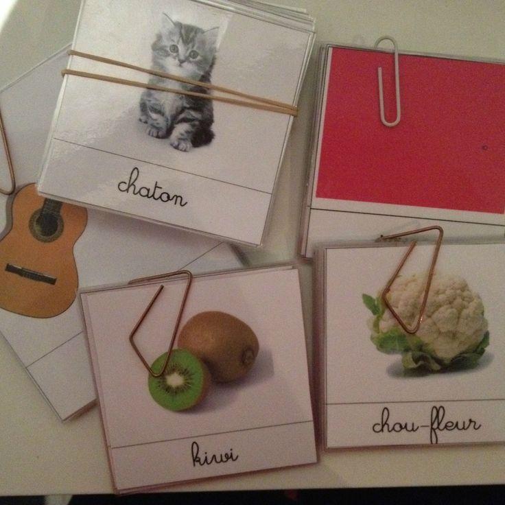 Montessori - Les Cartes de Nomenclature