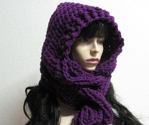 Free Crochet Pattern For Hooded Scarf With Ears : PRINTABLEcrochet hooded scarf-free pattern Linen Aspen ...