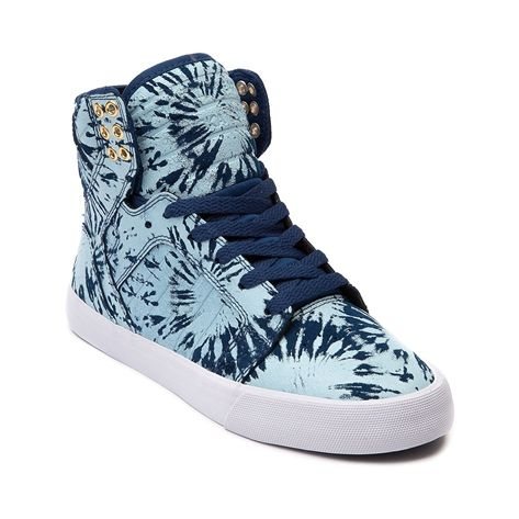 Womens Supra Skytop Skate Shoe, Navy Blue Wash | Journeys Shoes