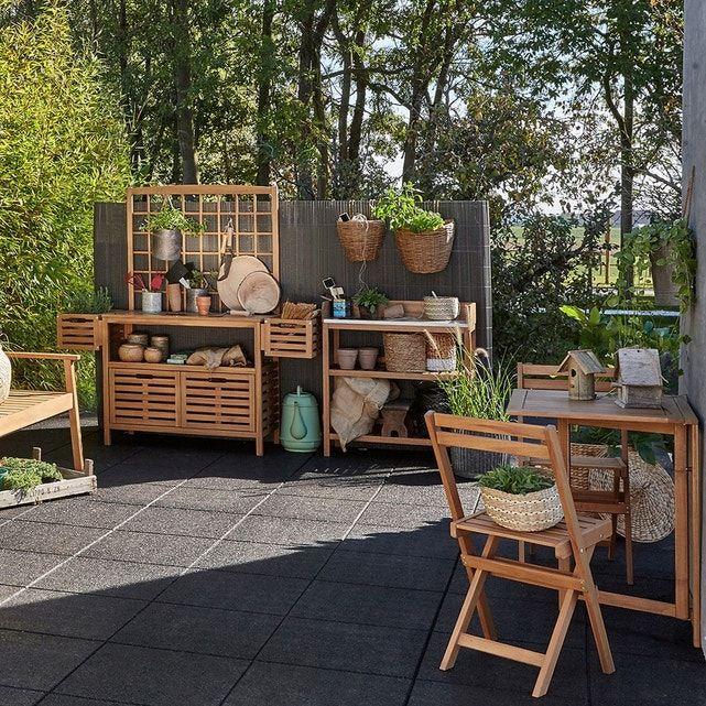 Meuble De Jardinage Wassif Avec Paroi Acacia La Redoute Interieurs La Redoute Mobilier Jardin Table De Jardin Meuble Jardin