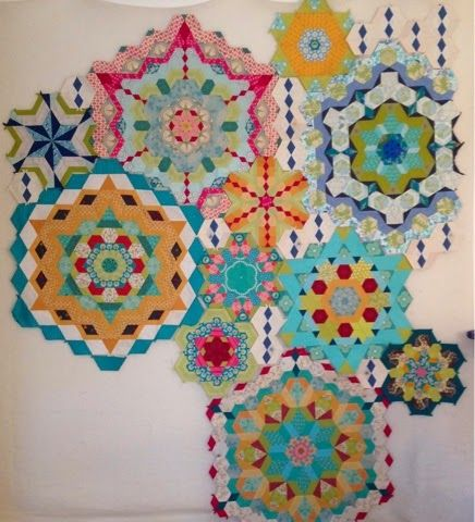 12 best images about The New Hexagon - Millefiore Quilt on - triangular graph paper