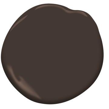 Bittersweet Chocolate 2114-10    Benjamin Moore Paired with Horizon and White Rock