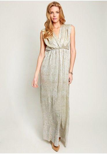 Metallic maxi dress by love