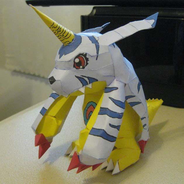 Digimon Papercraft: Gabumon   Tektonten Papercraft