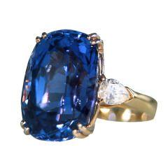 GABRIELLE'S AMAZING FANTASY CLOSET | No Heat Ceylon, Color Change Sapphire and Diamond Ring |