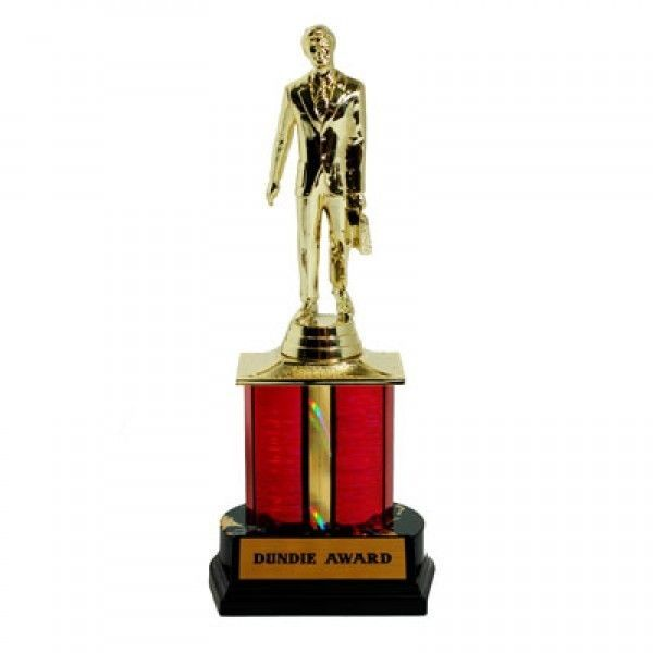 The Office TV Show Dundie Trophy Dunder Mifflin Dundee Award -cake topper!!