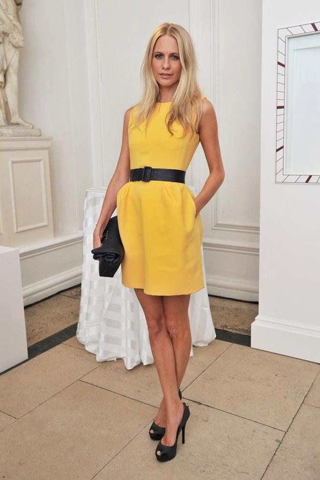 Poppy DelavigneDaily Fashion, Louis Vuitton, Cartier Tanks, Style, Yellow Dresses, Poppies Delevingne, Poppy Delevingne, Work Outfit, Lemon Yellow