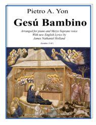 Gesu Bambino for Mezzo Soprano Voice and Piano with New English Lyrics