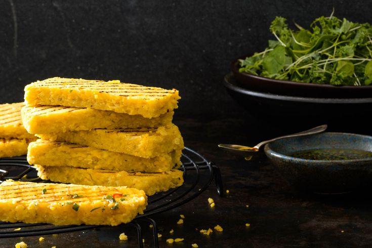 Linsen-Mais-Schnitten vom Grill