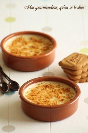 Crèmes aux spéculoos #recette #dessert #biscuit #facile