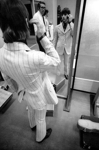 Ringo Starr Prepares Himself For A Concert In Tokyo During The Beatles Asian Tour Watched By Loyal Roadie Mal Evans July
