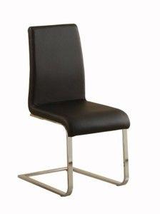 Homelegance 2448BKS* Side Chair Upholstered, Black, Set of 4