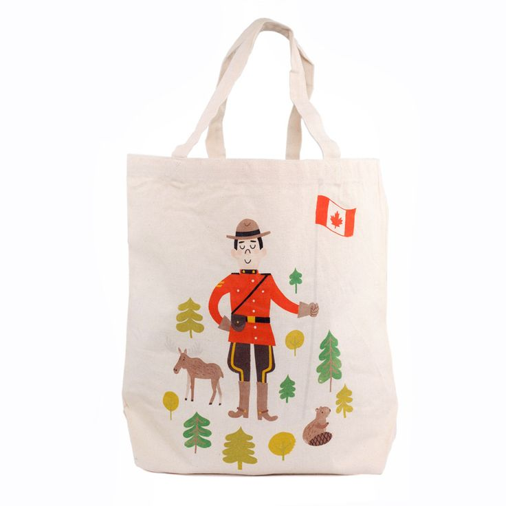 Canadian Mountie Canvas Tote Bag