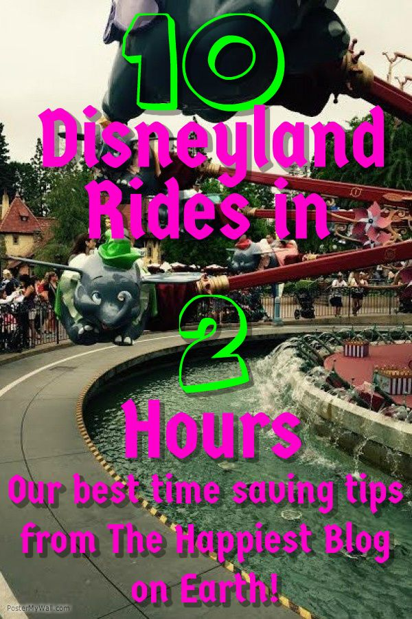 Could you do 10 Disneyland Rides in 2 Hours? Here's how to do it and tons more tips from the best Disneyland planning site out there.
