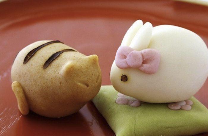 Nerikiri (japansk marsipan på bönor och ris)