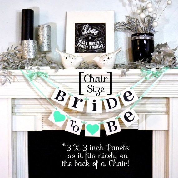 We could make it grey and pink...  Bridal Shower Decoration Banner / Bride to Be Chair by BannerCheer, $17.50