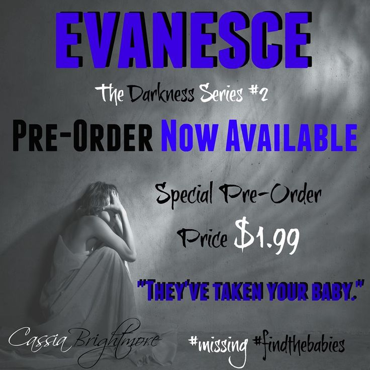 Pre-order before it goes to 2.99 at release Pre-order your copy of Evanesce today! Release date: June 29th Amazon US: http://amzn.to/1Gdty1F  Amazon CA: http://amzn.to/1P9vjky  Amazon UK: http://amzn.to/1zFiiGg  Amazon AU: http://bit.ly/1EmLjOy  iTunes: http://apple.co/1yLe70t  B&N: http://bit.ly/1E946ei  Kobo: http://bit.ly/1HsgOWj