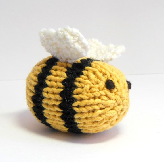 Bee Large Bumble Bee Knit Toy Bee Bee Nursery by SweetBauerKnits, $26.00