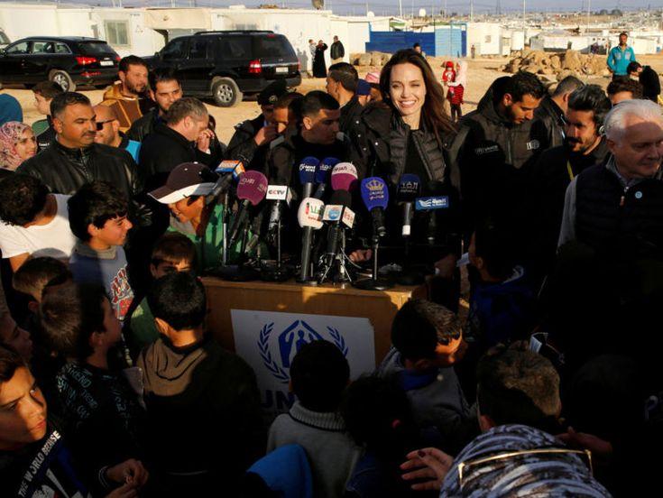 Jolie's 'heartbreak' on visit to refugee camp Latest News