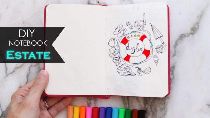 DIY Notebook ⛱ SPEED * Plan with me - Estate | Summer #2