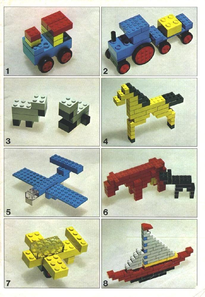 Eenvoudige legobouwsels voor kleuters
