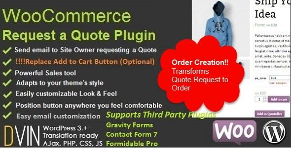 """The WooCommerce Request a Quote plugin for WordPress allows your visitors/customers to add products to a wishlist and submit an easy """"request for a quote"""