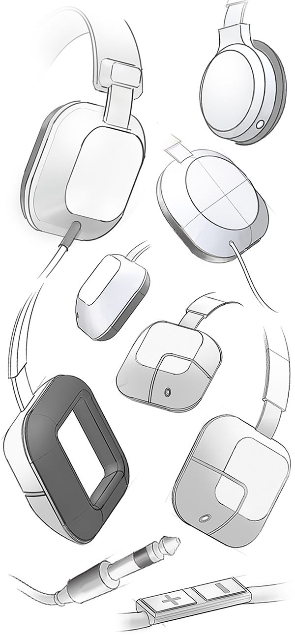 This project was about giving a new design to the Panasonic headphones HxD7 using sketching techniques.