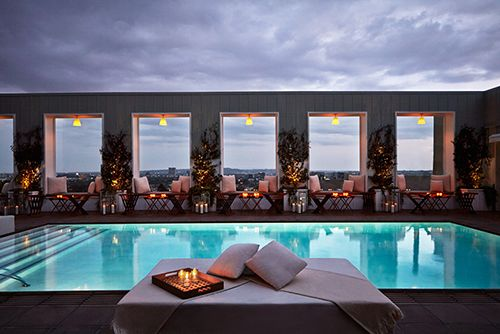 Skybar at the Mondrian Hotel Los Angeles