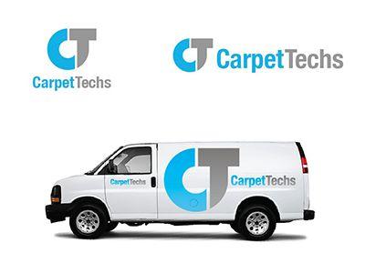 carpet installation logo. branding work for a local carpet installation company - brand was positioned as professional, topof logo