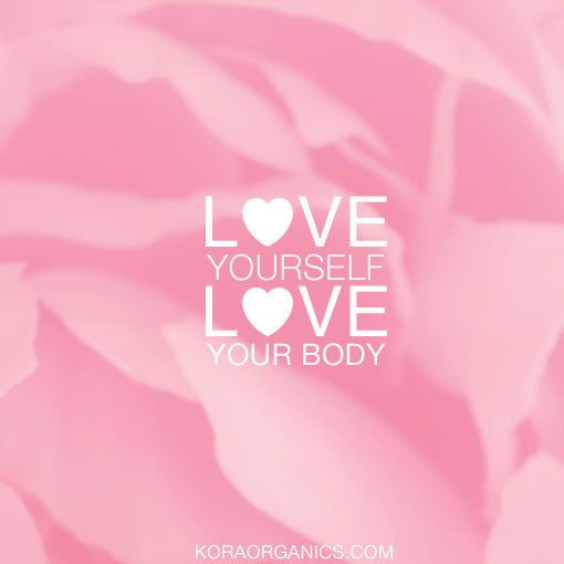 "Our new blog, ""Love Yourself, Love Your Body,"" is up on Spread the Light! Click here to read about the importance of practicing self-love http://www.koraorganics.com/blog/love-yourself-love-your-body/ xxx KORA Organics"