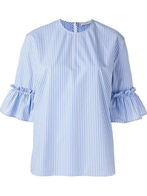 Shop J.W. Anderson pinstriped ruffle sleeve blouse in Dante 5 Women from the world's best independent boutiques at farfetch.com. Shop 400 boutiques at one address.