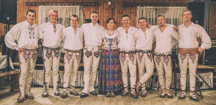 Costumes from Łącko, southern Poland. Polish Folk Costumes / Polskie stroje ludowe