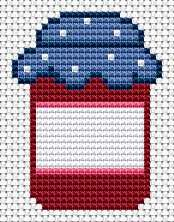 Kitchen design, free cross stitch patterns and charts - www.free-cross-stitch.rucniprace.cz