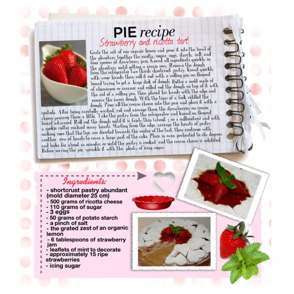 """Strawberry and ricotta tart"" by melangy-persempre on Polyvore"