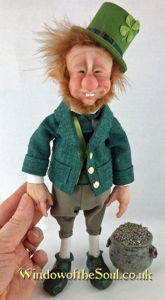 Lucky Irish Leprechaun Good Luck Charm ooak от TheWindowOfTheSoul