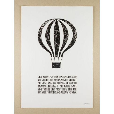 Plakat A3 Life Poster Balloon - MagiaPolnocy.pl sklep w stylu skandynawskim. #muumuru