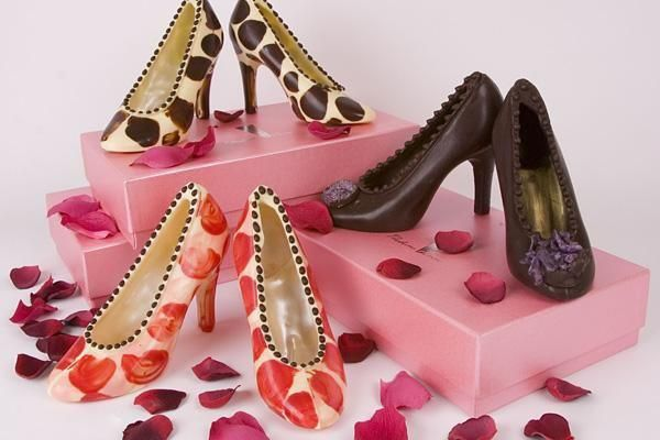 Unusual gift - chocolate shoes in beautiful presentation box