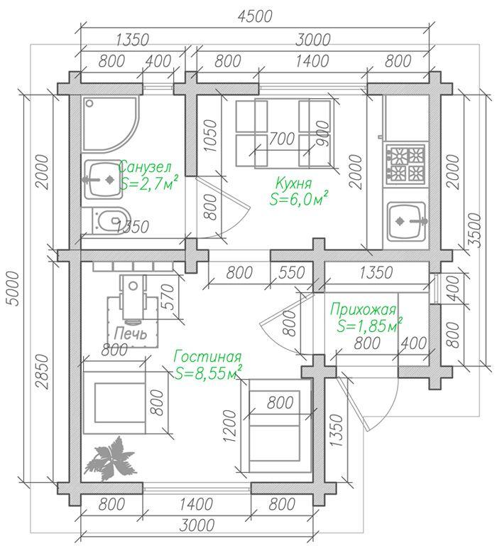 Данный проект создавался для людей, которые хотят создать атмосферу комфорта и уюта в небольшом дачном домике. Но в то же время в планировке дома должно быть достаточно пространства для полноценной жизни, даже длительное время..Проект этого домика о...