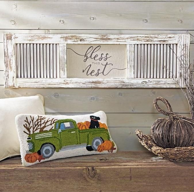 Our Bless This Nest Shutter Wall Art Features A Distressed White Washed Wooden Shutter And The Sentiment Is Printed On A Shutter Wall Decor Decor Shutter Decor