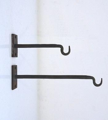 Iron Hooks from Brook Farm General Store $6    Use to hang the Blazon Gleam Pendants over the bed.