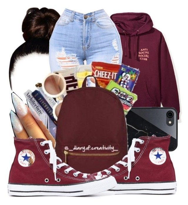 """""""Untitled #427"""" by lowkeysavage11 on Polyvore featuring Sefton and Converse"""