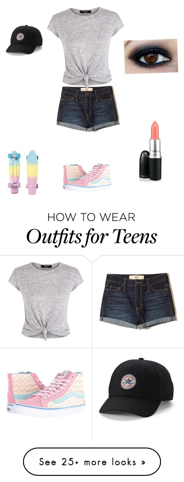 """Skater Girl"" by allyssaannayoung13-clearwater on Polyvore featuring Hollister Co., Vans, New Look and Converse"