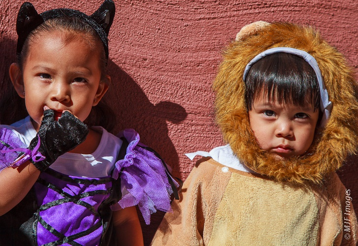 Two Hopi children from Second Mesa in Arizona are somewhat ...