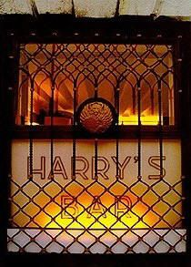 Harry's Bar in Venice - Cipriani bar Venezia Italy. The Bellini was invented here, and it's delicious. As is the food, but don't forget your credit card...