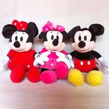 3pc / lot 30cm Myszka Miki i Myszka Minnie zabawki miękkie zabawki pluszaki pluszowe lalki wypchane zabawkami Darmowa wysyłka (Chiny (kontynentalne))