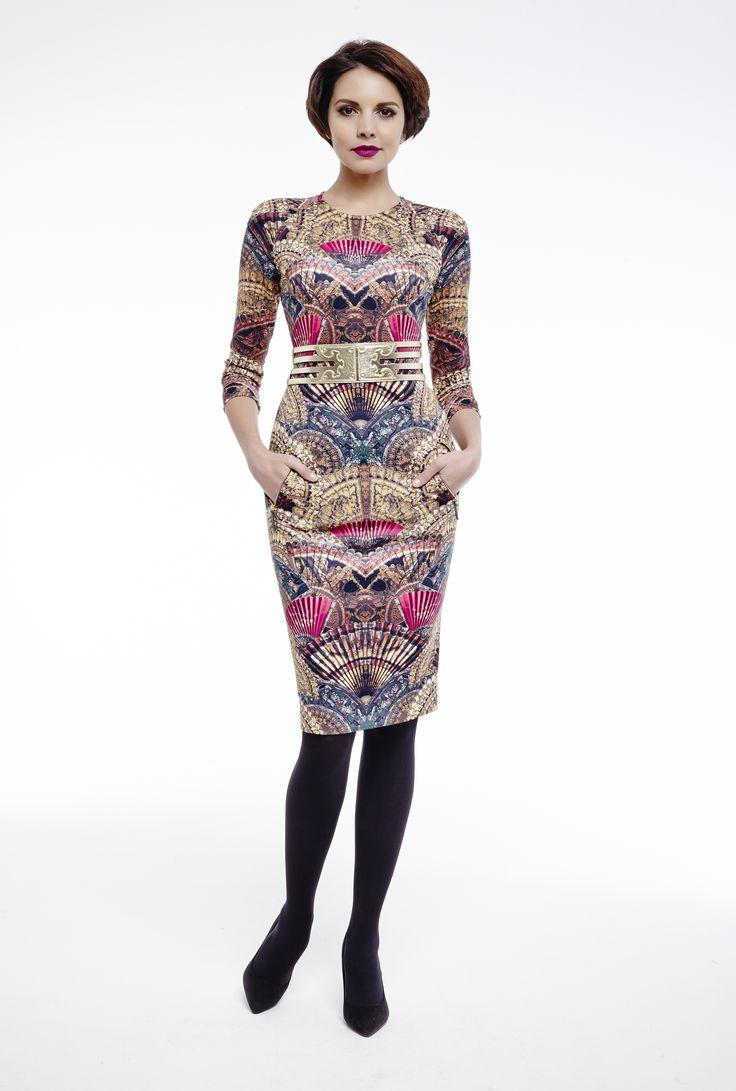 #dress #printeddress #gold